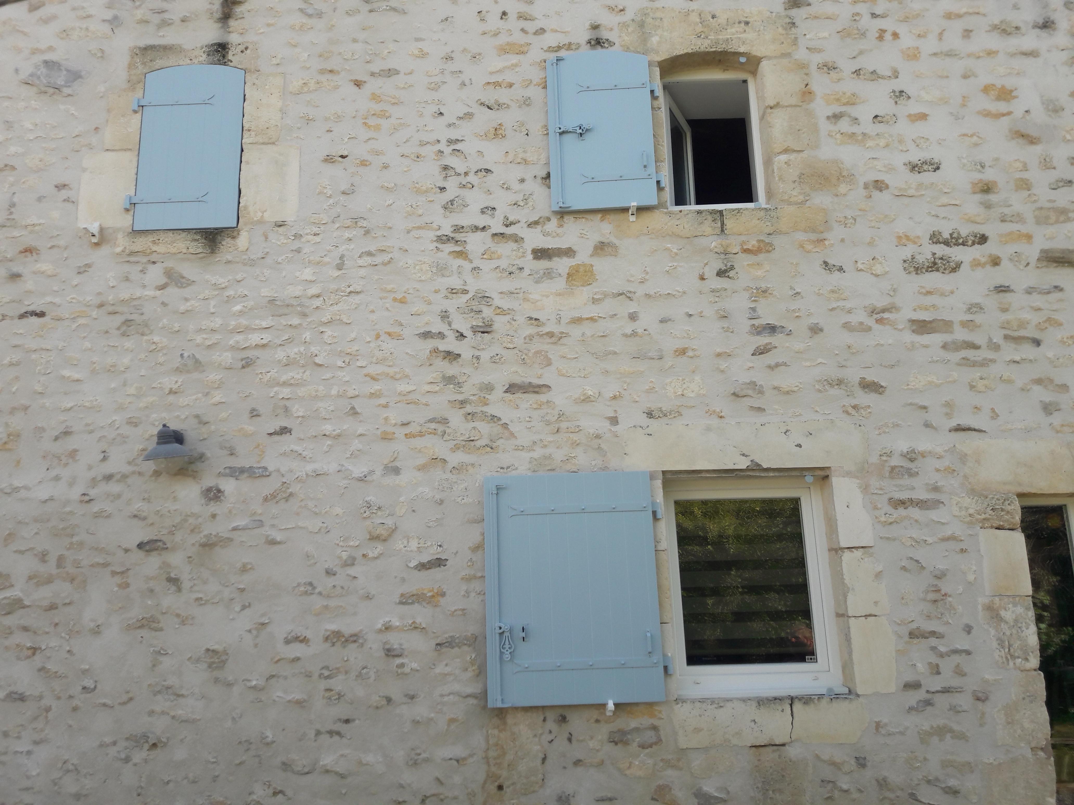 Volets en façade